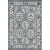 Alexandria Grey-Blue Bordered Rectangular Area Rug 4'x6'