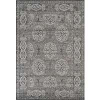 Alexandria Brown-Grey Bordered Rectangular Area Rug 4'x6'