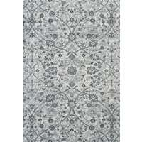 Alexandria Light Blue Floral Rectangular Area Rug 4'x6'