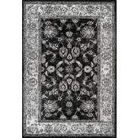 Alexandria Black Bordered Rectangular Area Rug 4'x6'