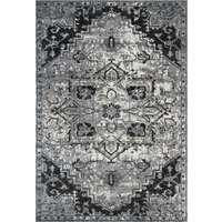 Alexandria Dark Gray Medallion Rectangular Accent Rug 2'x3'