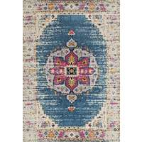 Manhattan Teal-Pink Medallion Rectangular Accent Rug 2'x3'