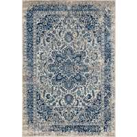 Manhattan Teal Bordered Rectangular Accent Rug 2'x3'