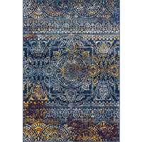 Manhattan Blue-Orange Multi Rectangular Accent Rug 2'x3'