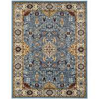 Sanya Blue Bordered Rectangular Accent Rug 2'x3'