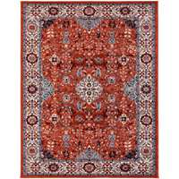 Sanya Red Bordered Rectangular Accent Rug 2'x3'