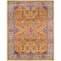 Sanya Red-Blue Bordered Rectangular Accent Rug 2'x3'
