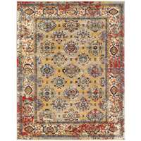 Sanya Yellow-Beige Bordered Rectangular Accent Rug 2'x3'