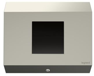 Legrand adorne Control Box, 1-Gang, No Devices in Titanium Finish - APCB4TM1