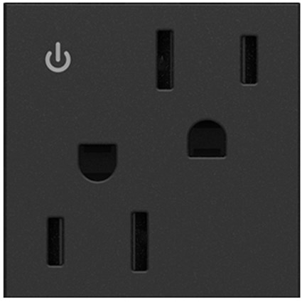 Tamper-Resistant Dual Controlled Outlet,15A