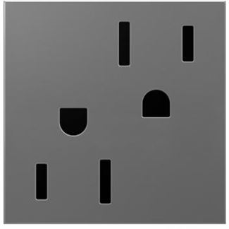 Legrand Adorne Magnesium Electrical Outlet in Magnesium Finish (15 Amp) - ARTR152M4