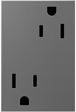 Legrand adorne Magnesium Electrical Outlet in Magnesium Finish (15 Amp) - ARTR153M4