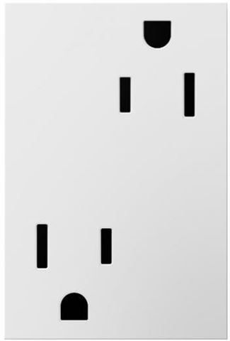Legrand adorne White Electrical Outlet in White Finish (15 Amp) - ARTR153W4