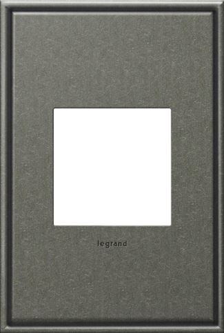 Legrand adorne Brushed Pewter Switch Plate in Brushed Pewter Finish - AWC1G2BP4