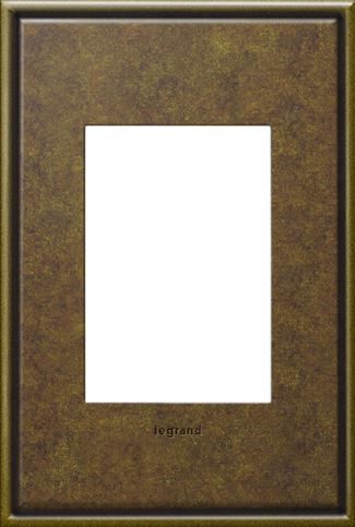 Legrand adorne Aged Brass Switch Plate in Aged Brass Finish - AWC1G3AB4