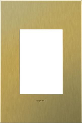 Legrand adorne Brushed Brass Switch Plate in Brushed Brass Finish - AWC1G3BB4