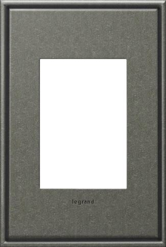 Legrand adorne Brushed Pewter Switch Plate in Brushed Pewter Finish - AWC1G3BP4