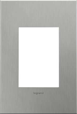 Legrand adorne Brushed Stainless Steel Switch Plate in Brushed Stainless Steel Finish - AWC1G3BS4