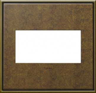 Legrand adorne Aged Brass Switch Plate in Aged Brass Finish - AWC2GAB4