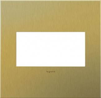 Legrand adorne Brushed Brass Switch Plate in Brushed Brass Finish - AWC2GBB4