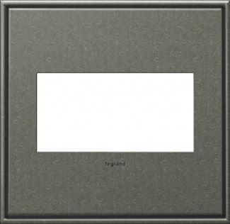 Legrand adorne Brushed Pewter Switch Plate in Brushed Pewter Finish - AWC2GBP4