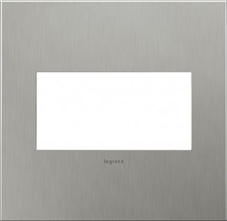 Legrand adorne Brushed Stainless Steel Switch Plate in Brushed Stainless Steel Finish - AWC2GBS4