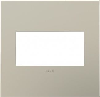 Legrand adorne Satin Nickel Switch Plate in Satin Nickel Finish - AWC2GSN4