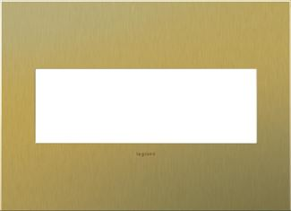 Legrand adorne Brushed Brass Switch Plate in Brushed Brass Finish - AWC3GBB4