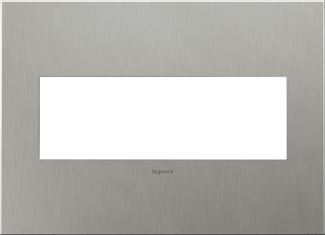 Legrand adorne Brushed Stainless Steel Switch Plate in Brushed Stainless Steel Finish - AWC3GBS4
