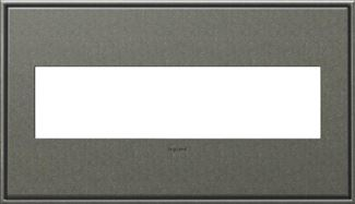 Legrand adorne Brushed Pewter Switch Plate in Brushed Pewter Finish - AWC4GBP4