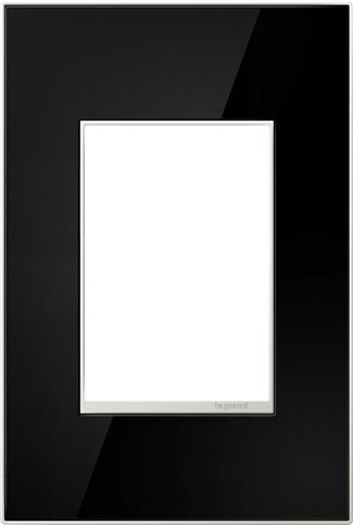 Legrand adorne Mirror Black Switch Plate in Mirror Black Finish - AWM1G3MB4