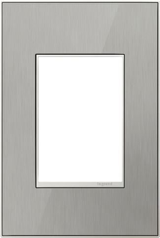 Legrand adorne Brushed Stainless Switch Plate in Brushed Stainless Finish - AWM1G3MS4