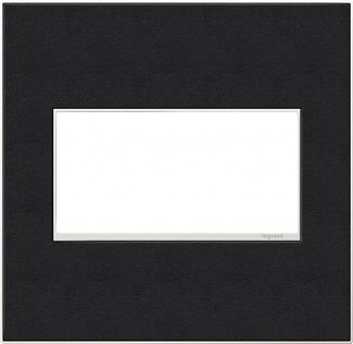 Legrand adorne Black Leather Switch Plate in Black Leather Finish - AWM2GLE4