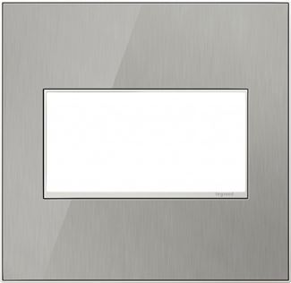 Legrand adorne Brushed Stainless Switch Plate in Brushed Stainless Finish - AWM2GMS4