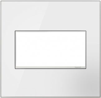 Legrand adorne Mirror White Switch Plate in Mirror White Finish - AWM2GMW4