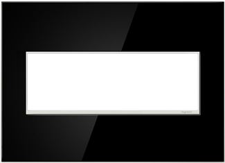 Legrand adorne Mirror Black Switch Plate in Mirror Black Finish - AWM3GMB4