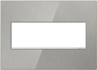 Legrand adorne Brushed Stainless Switch Plate in Brushed Stainless Finish - AWM3GMS4