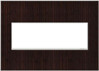 Legrand adorne Wenge Wood Switch Plate in Wenge Wood Finish - AWM3GWE4