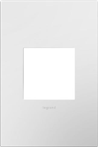 Legrand Adorne Gloss White Switch Plate in Gloss White Finish - AWP1G2WH10