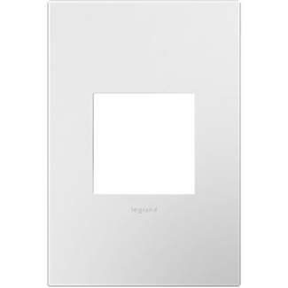 Legrand Adorne Gloss White on White Backplate, 1-Gang Wall Plate AWP1G2WHW10