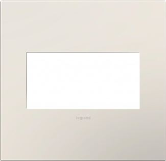 Legrand adorne Satin Light Almond Switch Plate in Satin Light Almond Finish - AWP2GLA4