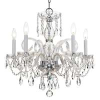 Crystorama Traditional Crystal 5 Light Spectra Crystal Chrome Chandelier I