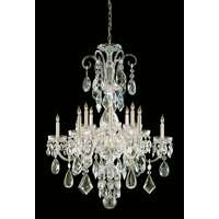 Crystorama Traditional Crystal 12 Light Clear Crystal Brass Chandelier I