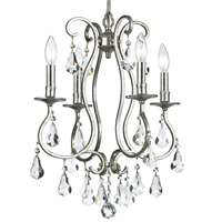 Crystorama Ashton 4 Light Clear Crystal Silver Mini Chandelier