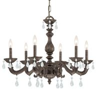 Crystorama Paris Market 6 Light Clear Element Crystal Bronze Chandelier - Venetian Bronze - 5036-VB-CL-S