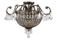 Crystorama Vanderbilt 9 Light Clear Hand Cut Semi-Flush - English Bronze - 5167-EB-CL-MWP
