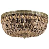 Crystorama 3 Light Teak Hand Cut Aged Brass Ceiling Mount - 714-AG-GT-MWP