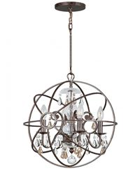 Crystorama Solaris 4 Light Golden Shadow Crystal Bronze Mini Chandelier - English Bronze - 9025-EB-GS-MWP