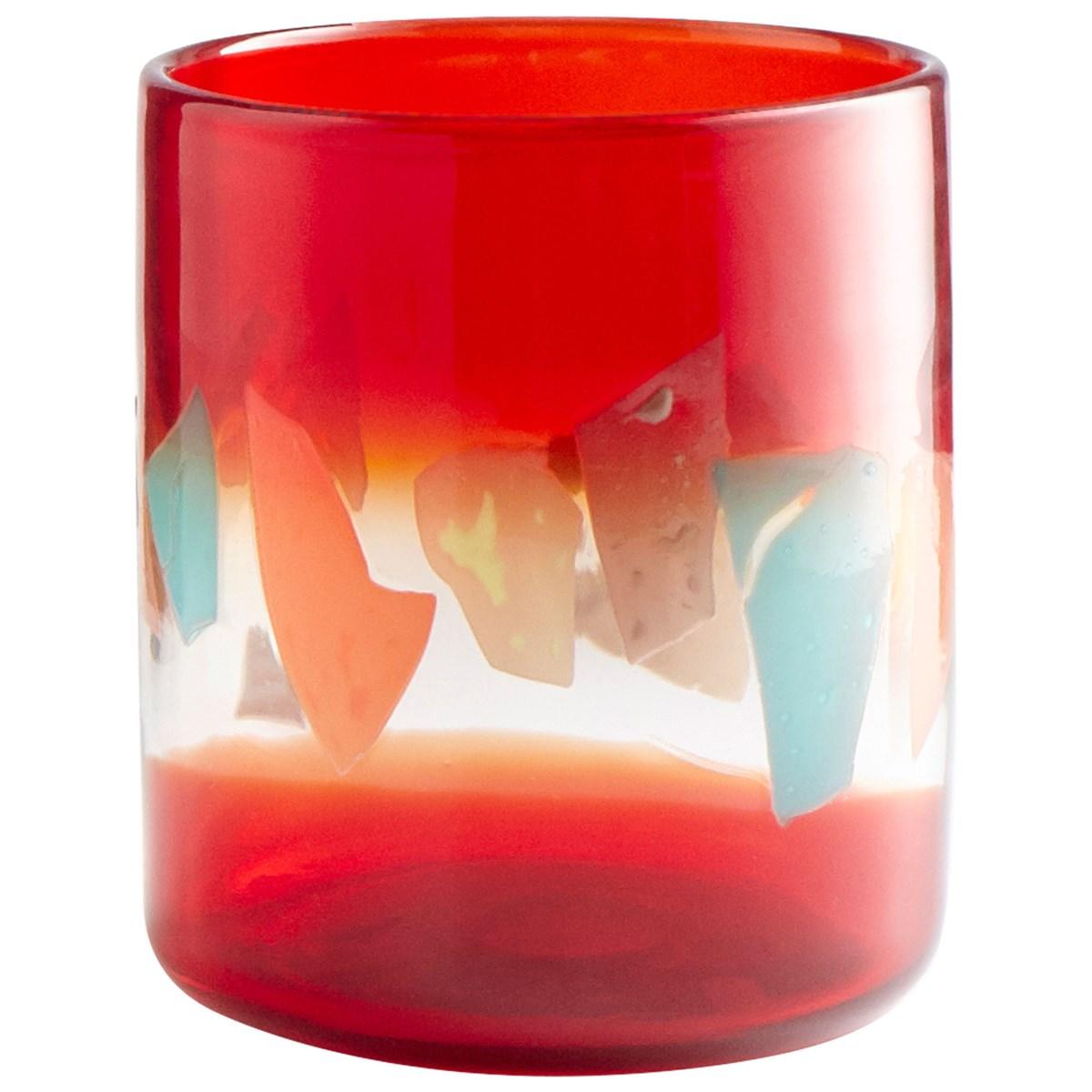 cyan carnival vase