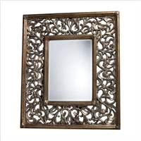 Sterling Webster Mirror In Kintyre Gold  DM1924